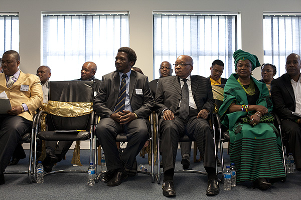 President Jacob Zuma at the soft launch of the ANC Digital Archive at the University of Fort Hare, Alice, Eastern Cape, South Africa. The soft launch of the Archive was part of the celebration events held in 2012 to commemorate the centerary of the African National Congress.