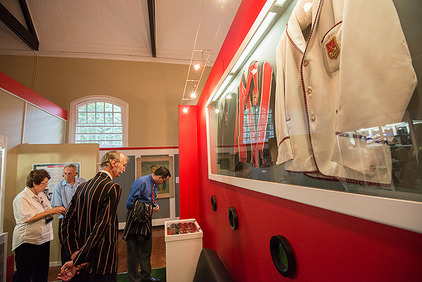 A Museum exhibit at the Maritzburg College Museum in Pietermaritzburg is an example of careful selection of objects to tell the story of the school.