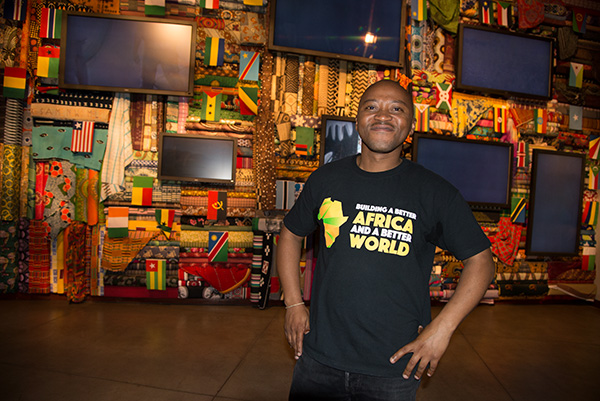 His T-Shirt says it all! Mlungisi Shangase from the Durban Local History Museums at the end of a tour of Freedom Park as part of the South African Museums Association (SAMA) National Conference 2016 was held at Diep in Die Berg in the East of Pretoria from November 1-3, 2016.