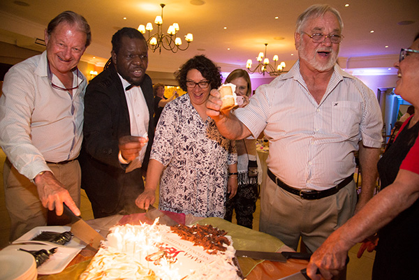 Cutting the SAMA 80th Birthday cake. South African Museums Association (SAMA) National Conference 2016 was held at Diep in Die Berg in the East of Pretoria from November 1-3, 2016 and included visits to Freedom Park, Fort Schanskop, Maropeng and the Cullinan Diamond Tour. The event also marked the 80th anniversary of SAMA and all surviving past presidents were invited to the banquet on the closing night as part of the celebration.