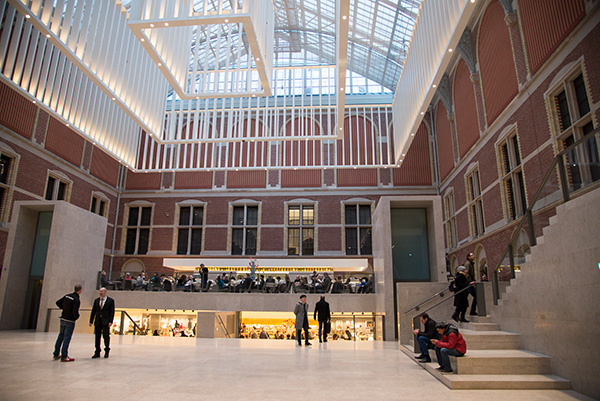 Even the architecture of the revamped Rijksmuseum speaks of openness, accessibility and simplicity, values they have carried through to all of their interactions with the public, including their online presence. This area including their coffee shop and bookshop is open to the public without a ticket