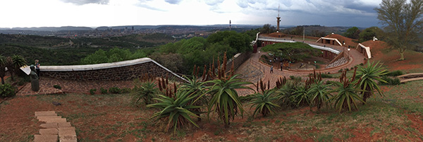 Fort Schanskop beside the Voortrekker Monument was the venue for one of the outings at the SAMA Conference 2017. The fort was built as part of a series of forts to defend Pretoria after the Jameson Raid. For centuries now, South Africa has been a contested space, particularly over access to land and mineral resources. Greed has lain at the heart of most of South Africa's historic conflicts, and it is no less so today.