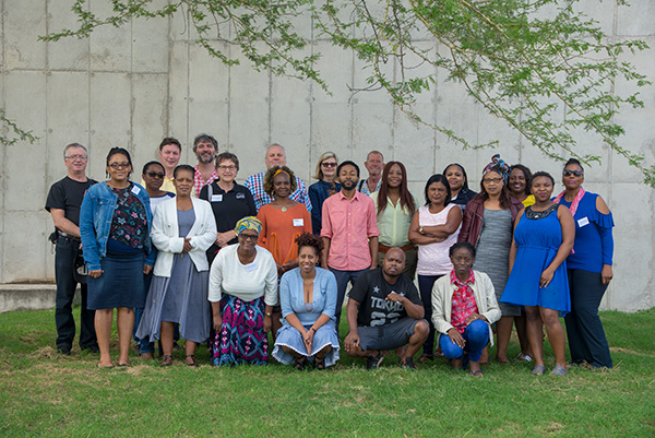 "Delegates at the South African Museums Association Conference (SAMA) KwaZulu-Natal section conference in April 2018. The conference was held in the eMakhosini Ophate Heritage Park in the ""Valley of the Kings"" near Ulundi, KwaZulu-Natal, South Africa."