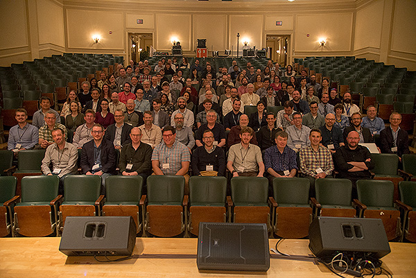 Participants at the 2018 Annual Congress of the International Image Interoperability Framework (IIIF) Conference held at the Library of Congress in Washington DC, USA, at the Smithsonian Institute and at the Folger Shakespeare Library.